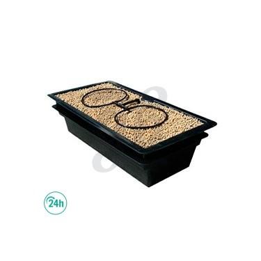 Flo & Gro 510 Nutriculture - Maceta hidropónico para dos macetas