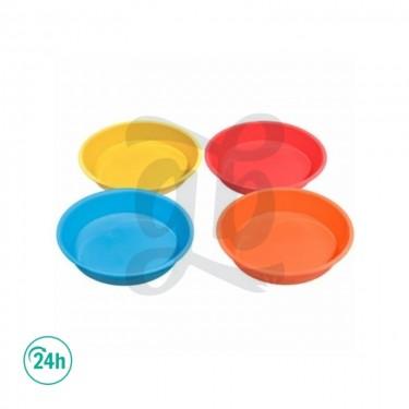 plats silicone de 20cm couleurs