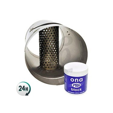 Tube avec grille de ONA Block-adaptateur pour tube ONA Block
