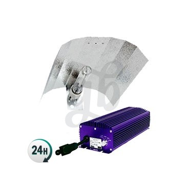 Kit Lumatek 600W Regulable Luminaria -  Reflector con casquillo Standard Stucko