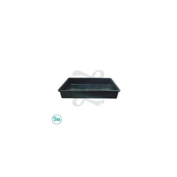Plateau Porteur Noir 54cm x 39cm x 9cm