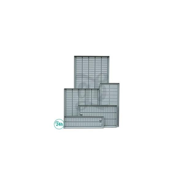 Mesa de cultivo gris bandeja con drenaje - Drenaje mesa de cultivo ...