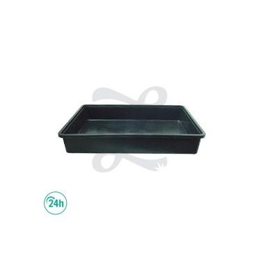Bac 79 x 40 cm en plastique noir