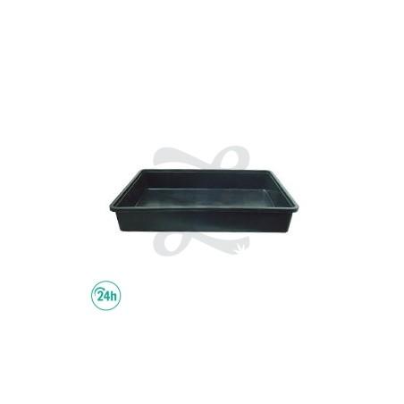Black plastic tray 79 x 40cm