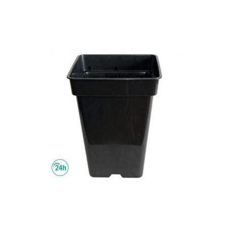 maceta de plastico negra cuadrada para cultivo interior de marihuana