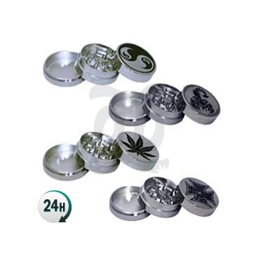 Round metal grinder - various designs