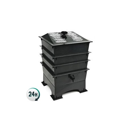 Vermicompostero to make humus. Worm composter