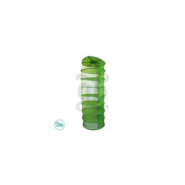 Malla verde claro redonda para secado de marihuana