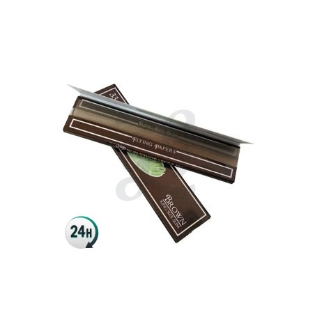 King Sized Flying Papers Brown Rolling Papers