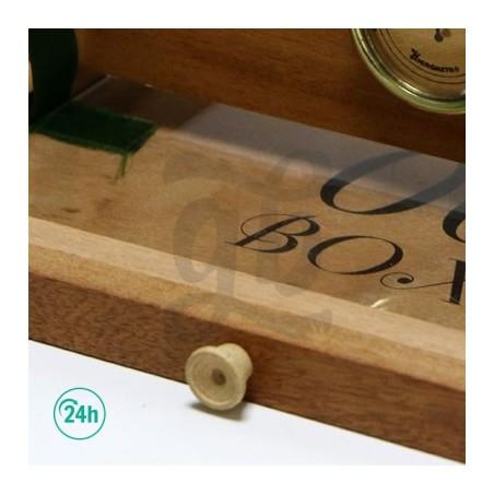 00 petite boîte de bois avec filet pour pollen