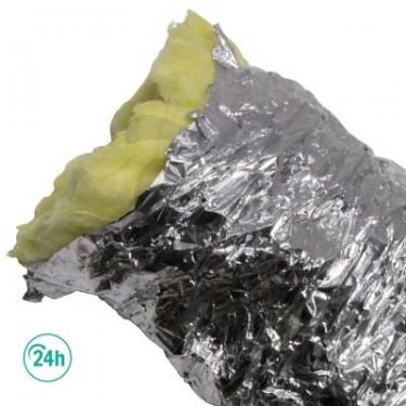 Tubo flexible aluminio insonorizado 10m.