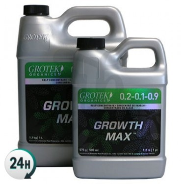 Growth Max Organics bottles