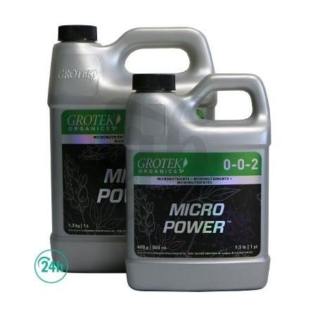 Garrafas de Micro Power Organics