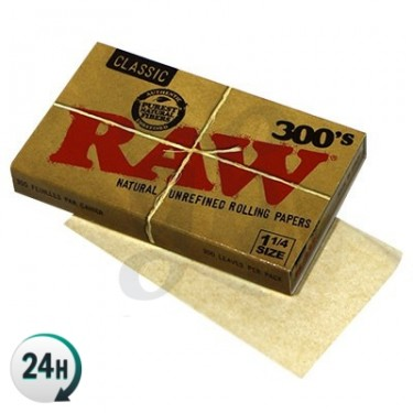 RAW Rolling Paper (300 leaves, 1 1/4)