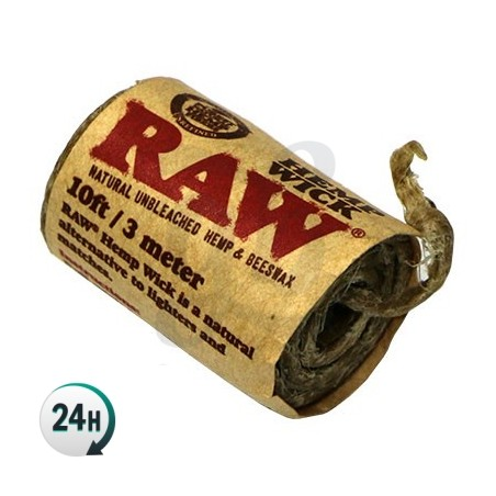 RAW Hemp Wick (mechas)