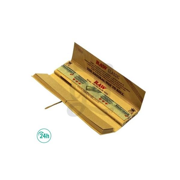 Raw King Size Connoisseur - Papier à rouler avec filtres en carton