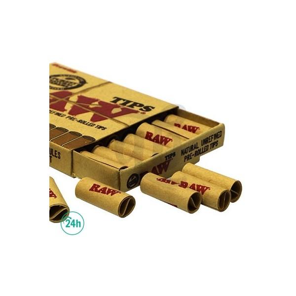 filtres en carton pré roulé raw x 20