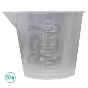 Vaso medidor 70 ml para cultivo de marihuana