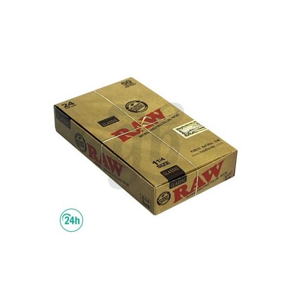 Caja 24 librillos papel Raw