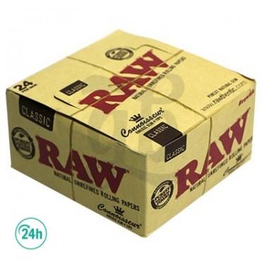 Raw King Size Connoisseur - Feuilles à rouler avec filtres en carton