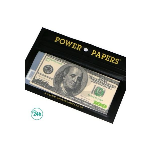 Papel de fumar diseño billetes