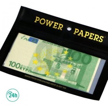 Papel de fumar diseño billetes de euro