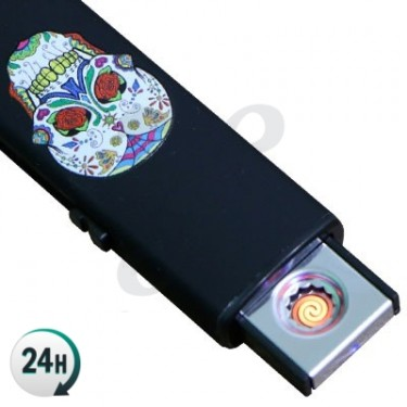 Mechero Electrico USB Calavera