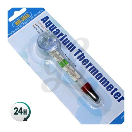 Water thermometer with suction cup