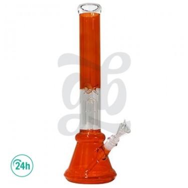 Bong de Cristal Hojas Verdes 45cm.