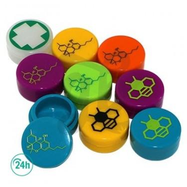 Silicone Containers THC Design - THC Formula Orange