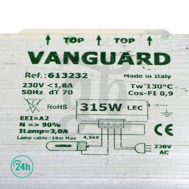 Vanguard 315w LEC Ballast - Details