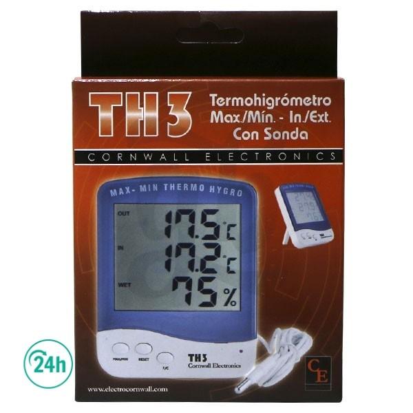 Digital Thermo-hygrometer with Sensor - Box