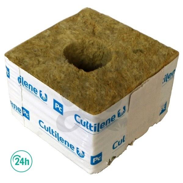 Taco lana de roca Cultilene 10 x 10 x 6,5 cm