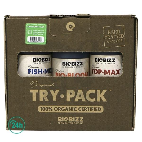 TryPack BioBizz Exterior - Fish Mix, BioBloom y TopMax