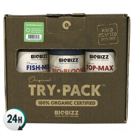 BioBizz Outdoor Trypack - Fish Mix, BioBloom and Top Max