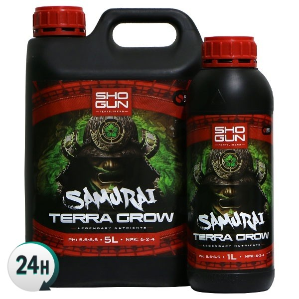 Samurai Terra Grow bottles