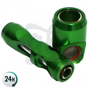 Hammer Pipe green disassembled