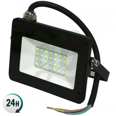 Foco Proyector Led 20W Luz Verde - Black Edition