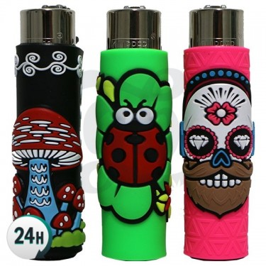 Clipper Lighter with Case - Funny Mix 2