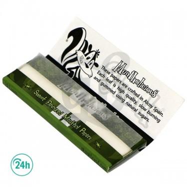 Skunk Brand Rolling Papers - Mint flavor - Open booklet