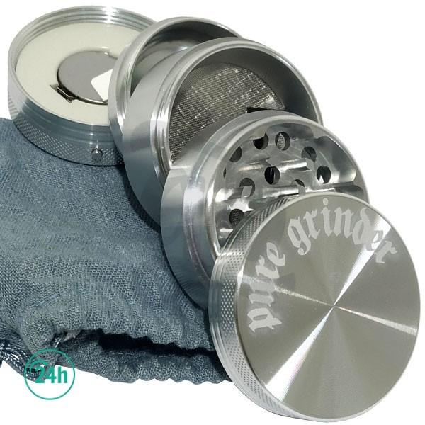 Grinder con vibrador plata abierto