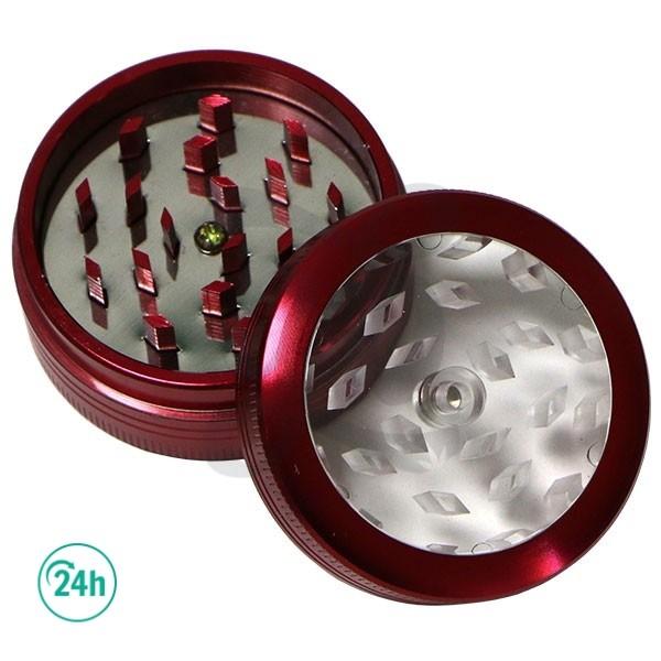Button Grinder red