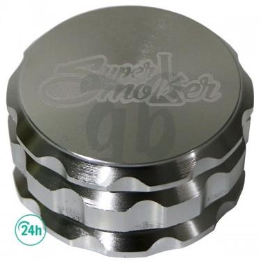 4 Part Metal Weed Grinder - Silver