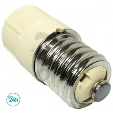 Casquillo adaptador para bombillas LEC - rosca