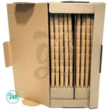 Caja 1000 Cones papel marrón abierta