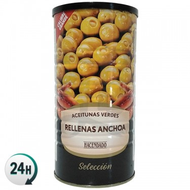 Camouflage Tin of Anchovy Filled Olives