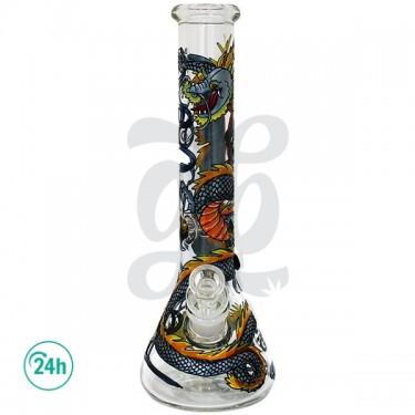 Bong de Cristal Dragón 17 cm Grace Glace