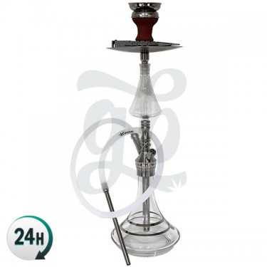 Shisha 60 cm The Silver Enchanter de DUD - Base de cristal
