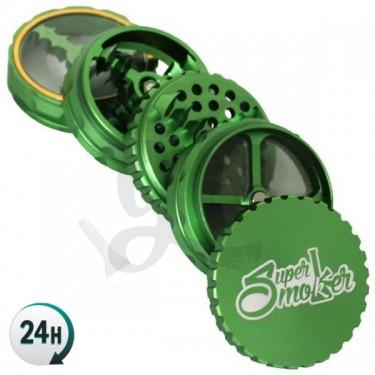 Grinder Doble Aluminio Giza 62mm 5 partes - Verde abierto