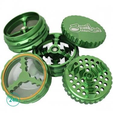 Grinder Doble Aluminio Giza 62mm 5 partes - Verde